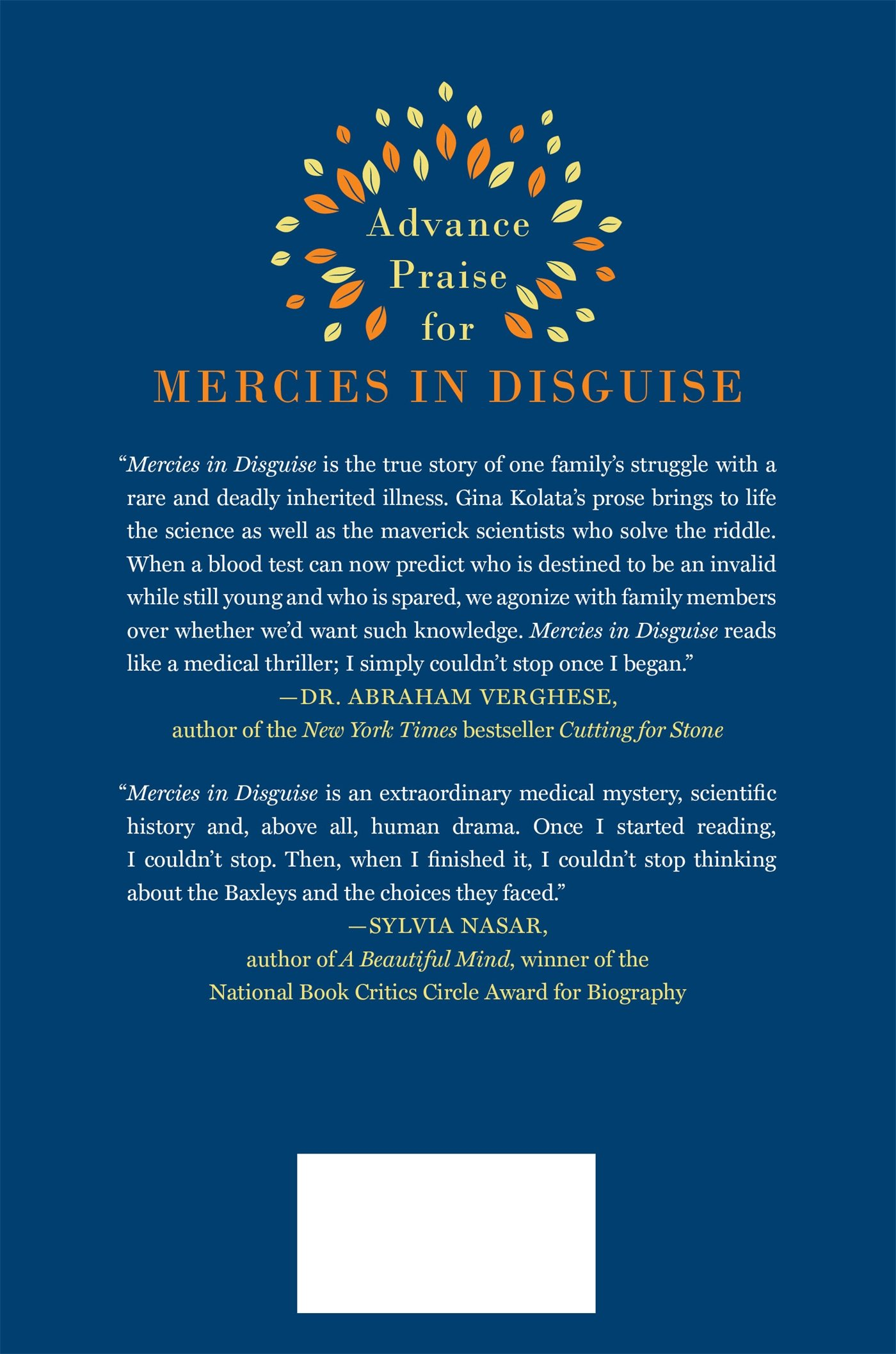 Mercies In Disguise: A Story Of Hope, A Family's Genetic Destiny, And The  Science That Rescued Them: Gina Kolata: 9781250064349: Amazon: Books