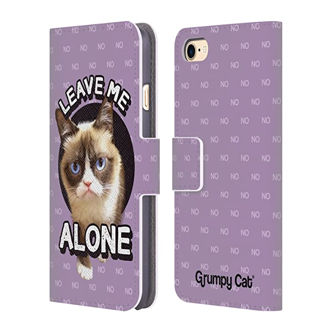 Amazoncom Official Grumpy Cat Leave Me Alone Quotes Leather Book