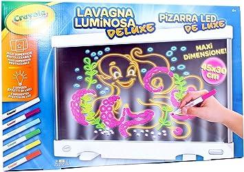Lisciani Lavagna Luminosa Deluxe Crayola Amazon It Giochi E Giocattoli