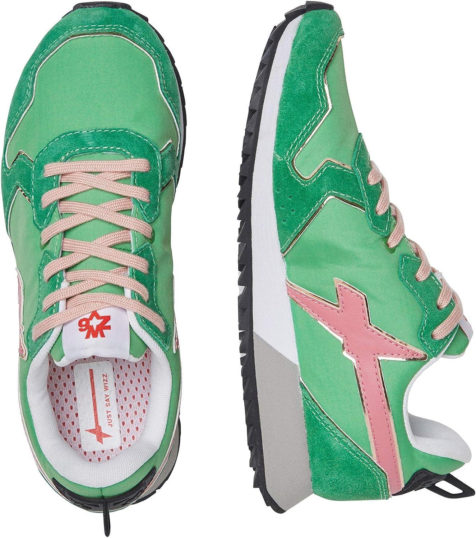 w6yz Jet-W.-Sneaker aus Leder und Nylon-Weiß/Silber Grün