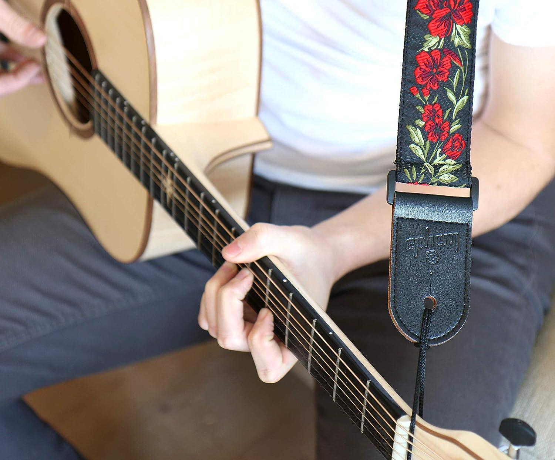 ephem - Correa para guitarra eléctrica, western y acústica, correa clásica con piel de microfibra: Amazon.es: Instrumentos musicales
