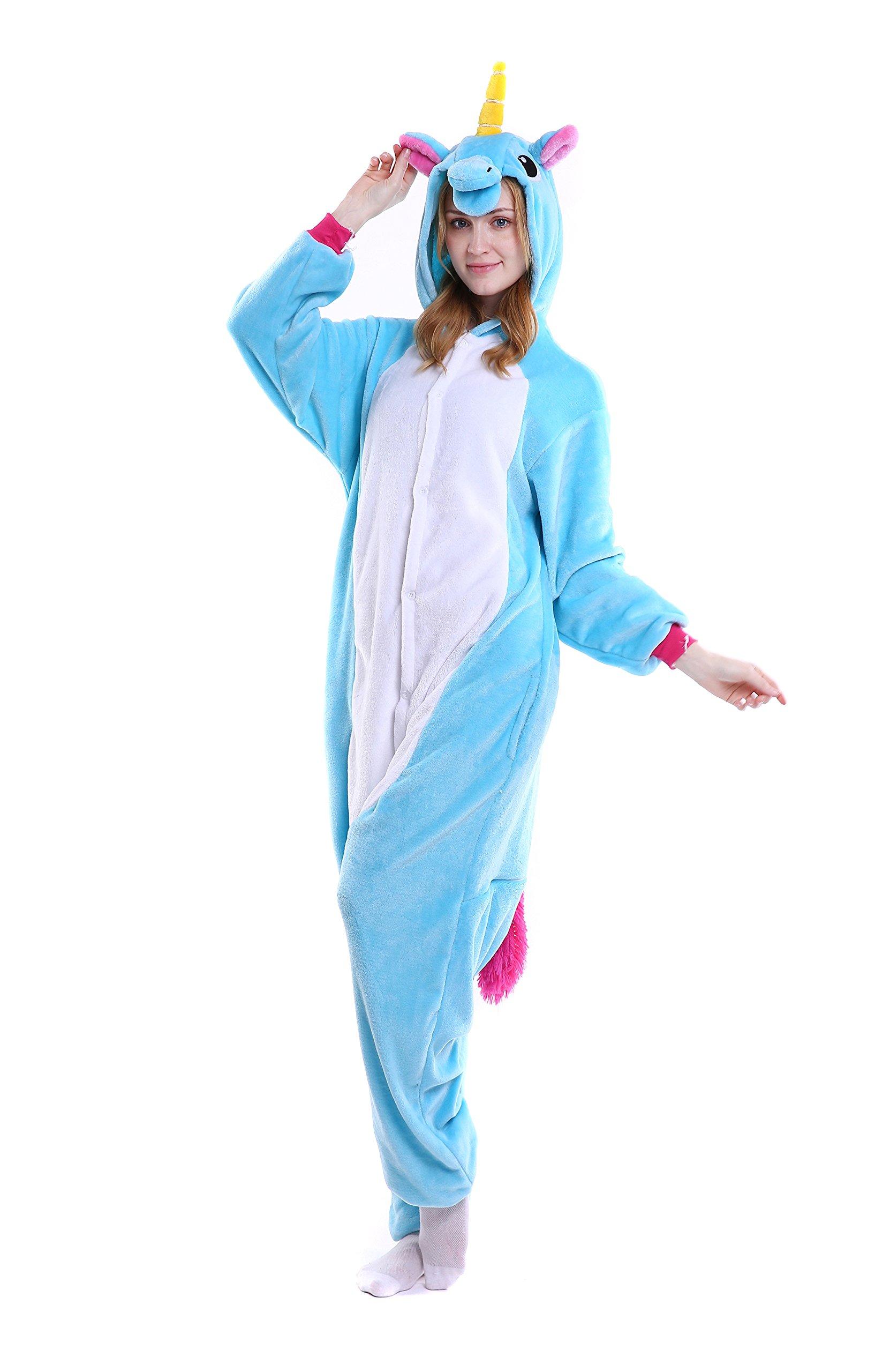 UsHigh Adult Pajamas Costume Soft Onesies Unisex Animal Cosplay Sleepsuit Gift