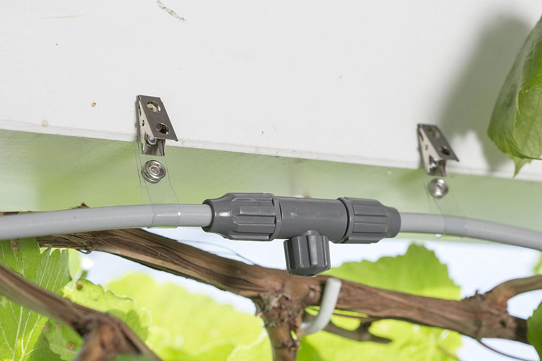 GARDENA 13137-20 Set de brumizador automático city gardening outdoor enfriador de aire con programador de riego, para refrescar los días calurosos