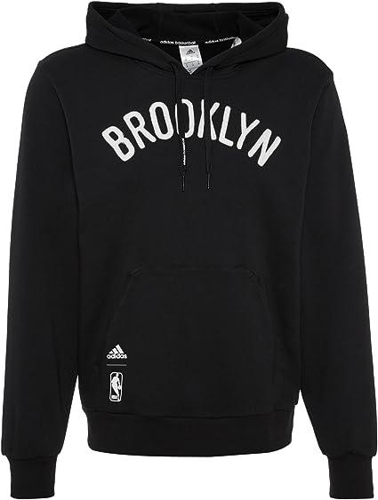 adidas délavé po Noir NBA Brooklyn Nets Men Sweat Shirt Noir