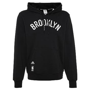 Men Adidas Shirt Noir À Po Pull Brooklyn Délavé Sweat Nba Nets wY1rZYqx