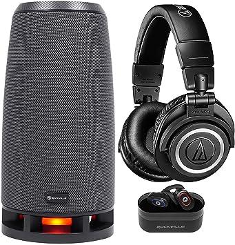 Audio Technica ATH-M50XBT audífonos inalámbricos Bluetooth + Altavoz + Auriculares TWS: Amazon.es: Electrónica