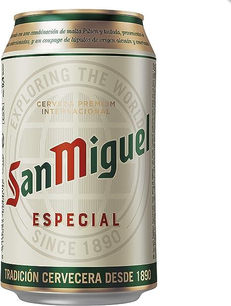 San Miguel Especial Cerveza Dorada Lager, 5.4% Volumen de ...