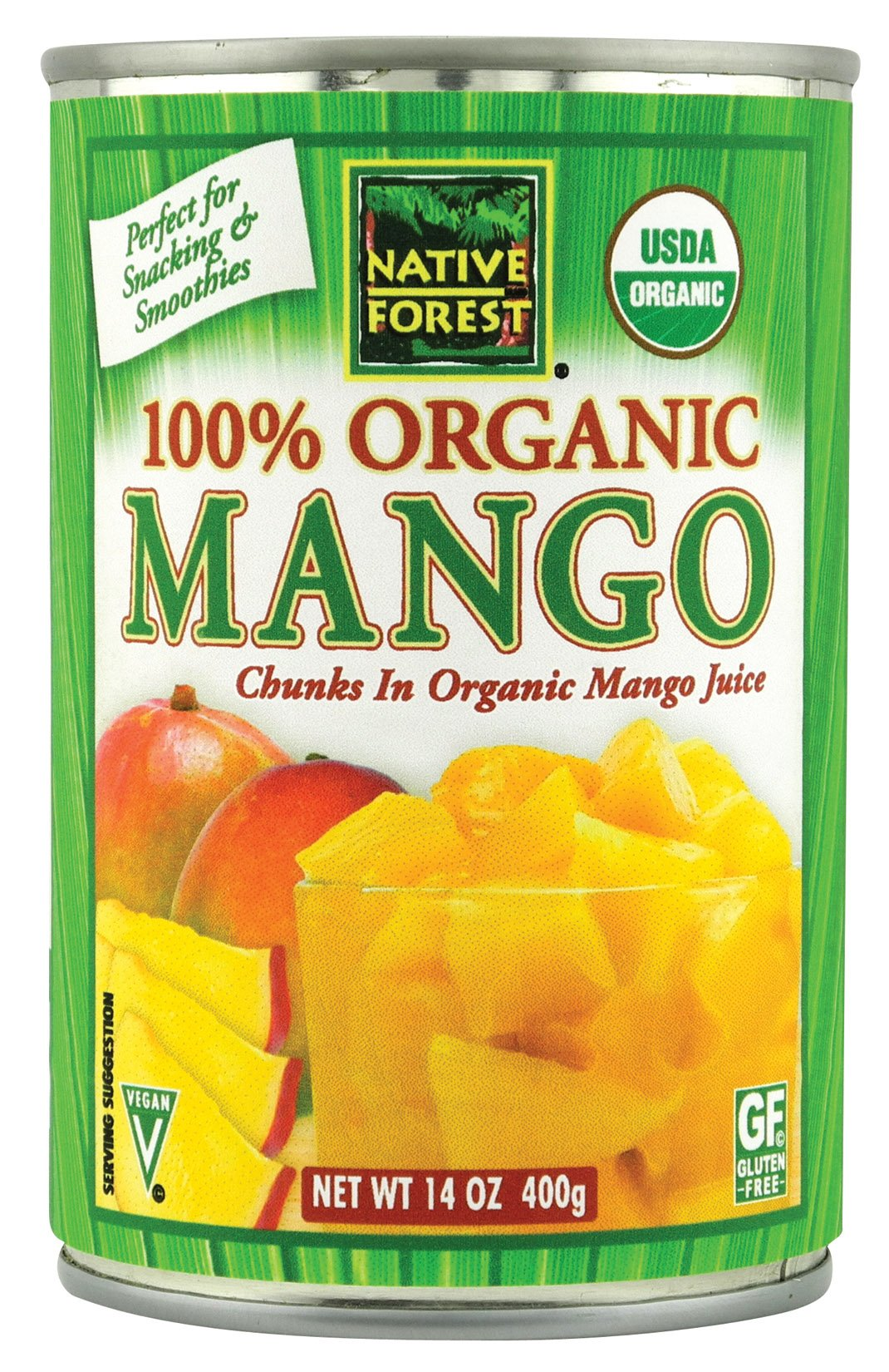 Native Forest Organic Mango Chunks, 14-Ounce Cans (Pack of 6) by Native Forest
