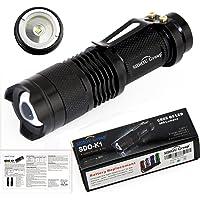 Sidiou Group Mini LED Linterna 7W 300lm CREE