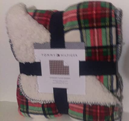 c8433139 Amazon.com: Tommy Hilfiger Stewart Tartan Plaid Full /Queen Throw ...