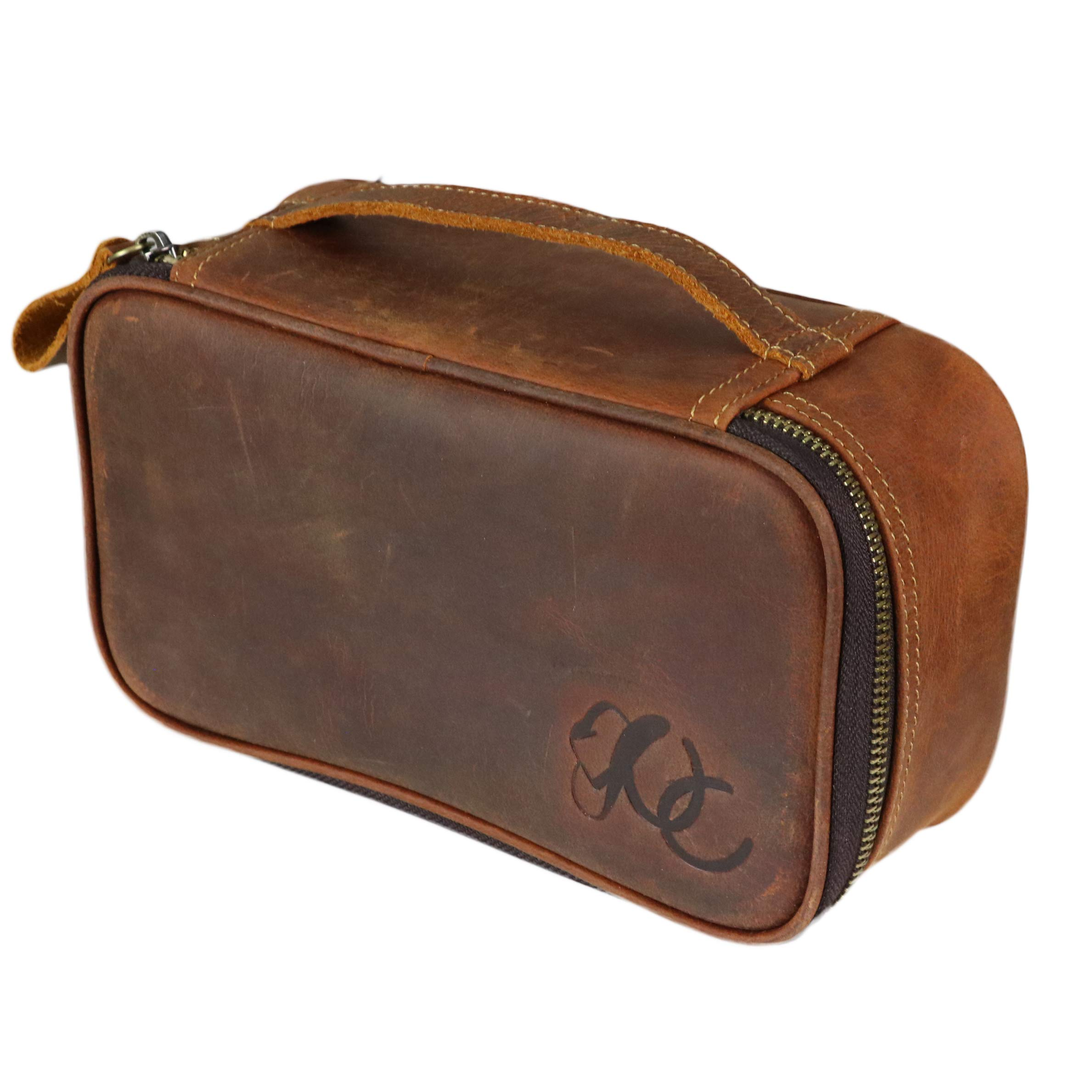 Western Toiletry Bag (Dopp Kit) For Men by Urban Cowboy - Genuine Leather