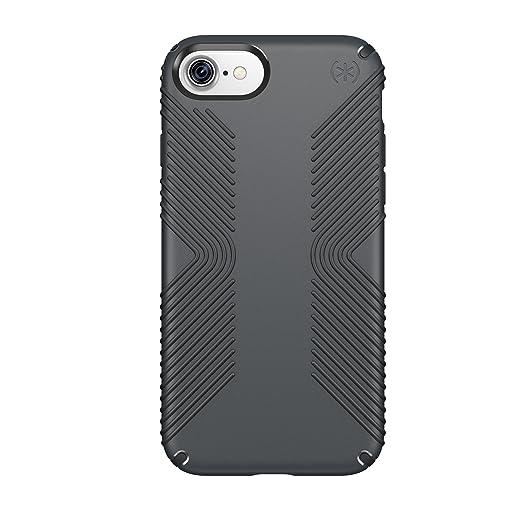 15 opinioni per Speck Presidio Grip Custodia Protettiva per iPhone 7, Grigio Grafite/Carbone