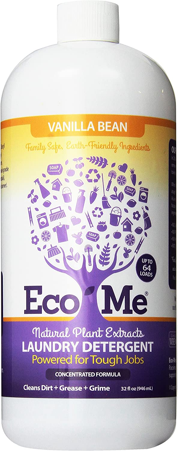 Eco-Me Natural Concentrated Liquid Laundry Detergent, Vanilla Bean, 32 Fluid Ounce