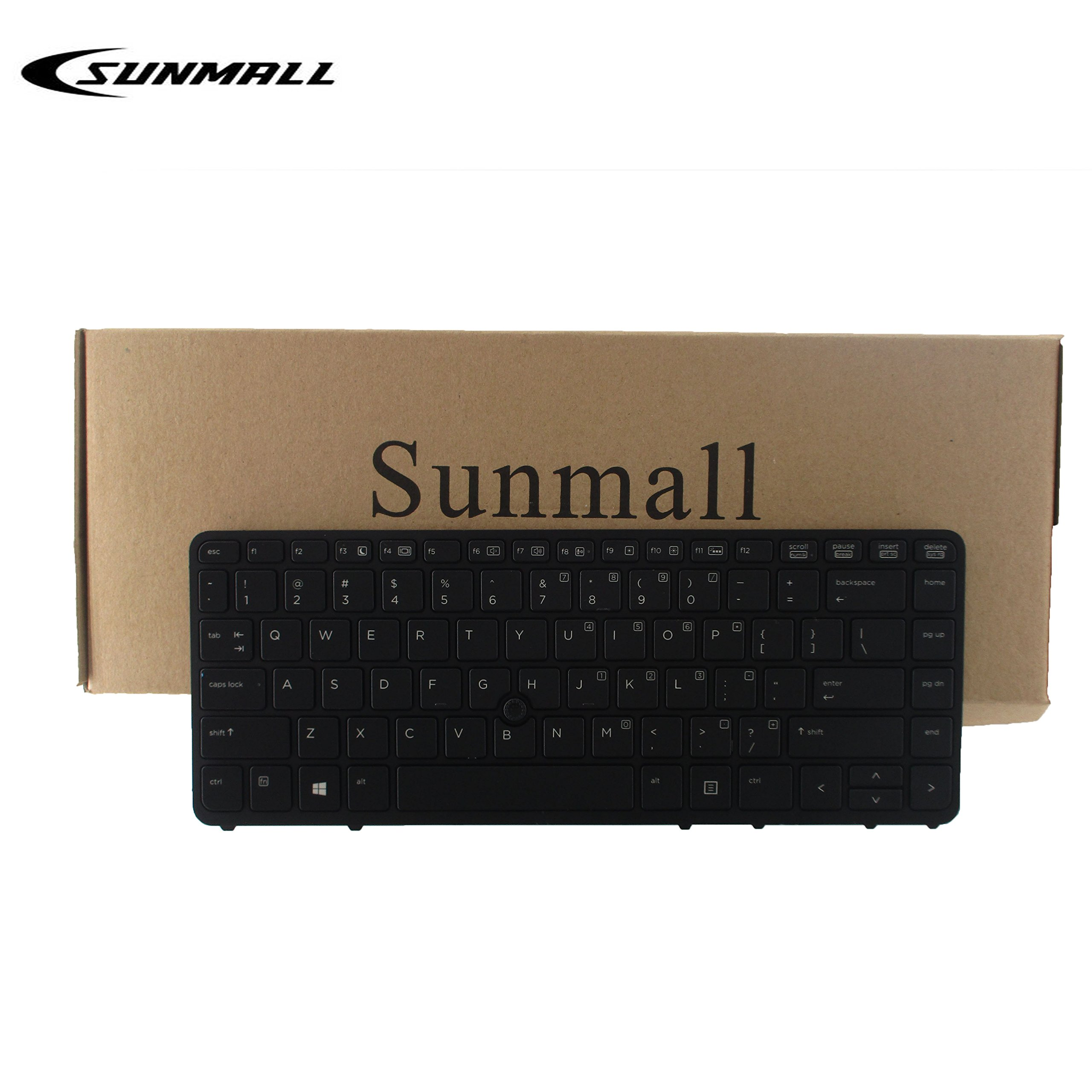 SUNMALL Laptop Keyboard Replacement with Pointer and Backlight for HP EliteBook 840 G1 G2/850 G1 G2/745 G1 G2/HP ZBook 14 Series Laptop Black US Layout (6 Month warrant)