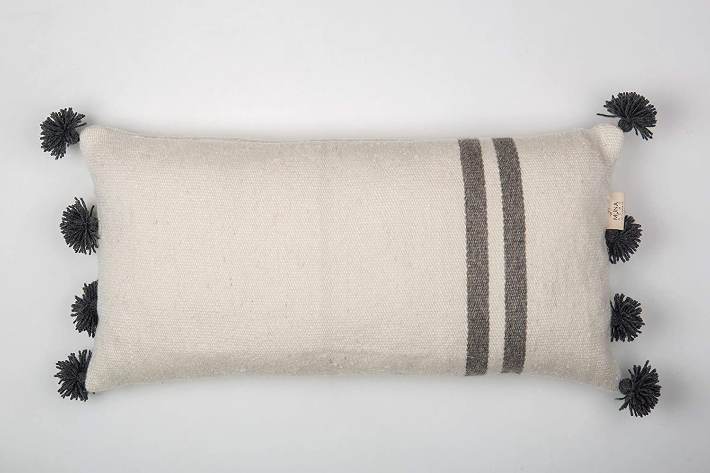 Muna Home Due Pom Grey Funda de Cojín Decorativa En Lana ...