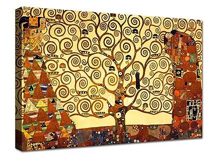 Quadro Klimt Albero della Vita 100x70 cm Quadri Moderni Soggiorno ...