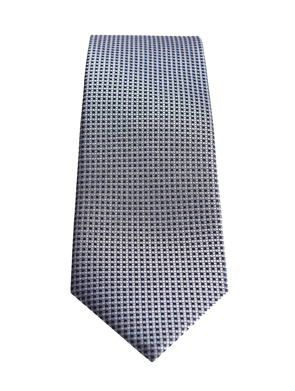 Corbata seda italiana microestampado azul: Amazon.es: Ropa y ...