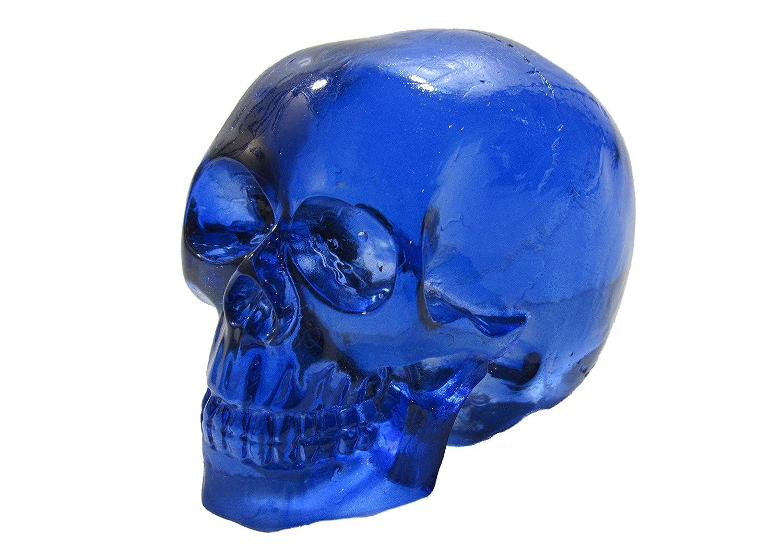 Clear Blue Skull Head Shift Knob / Decor Kool Collectibles