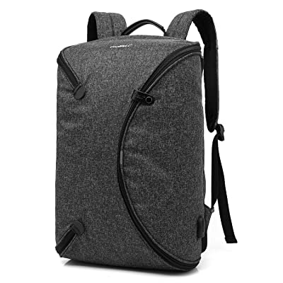 CoolBELL 15.6 Inch Laptop Backpack Bag With USB Charging Port / Personalized Foldable Travel Rucksack / Water-resistant Knapsack / Multi-functional Protective Day Pack For Men / Women / Teens (Black) delicate