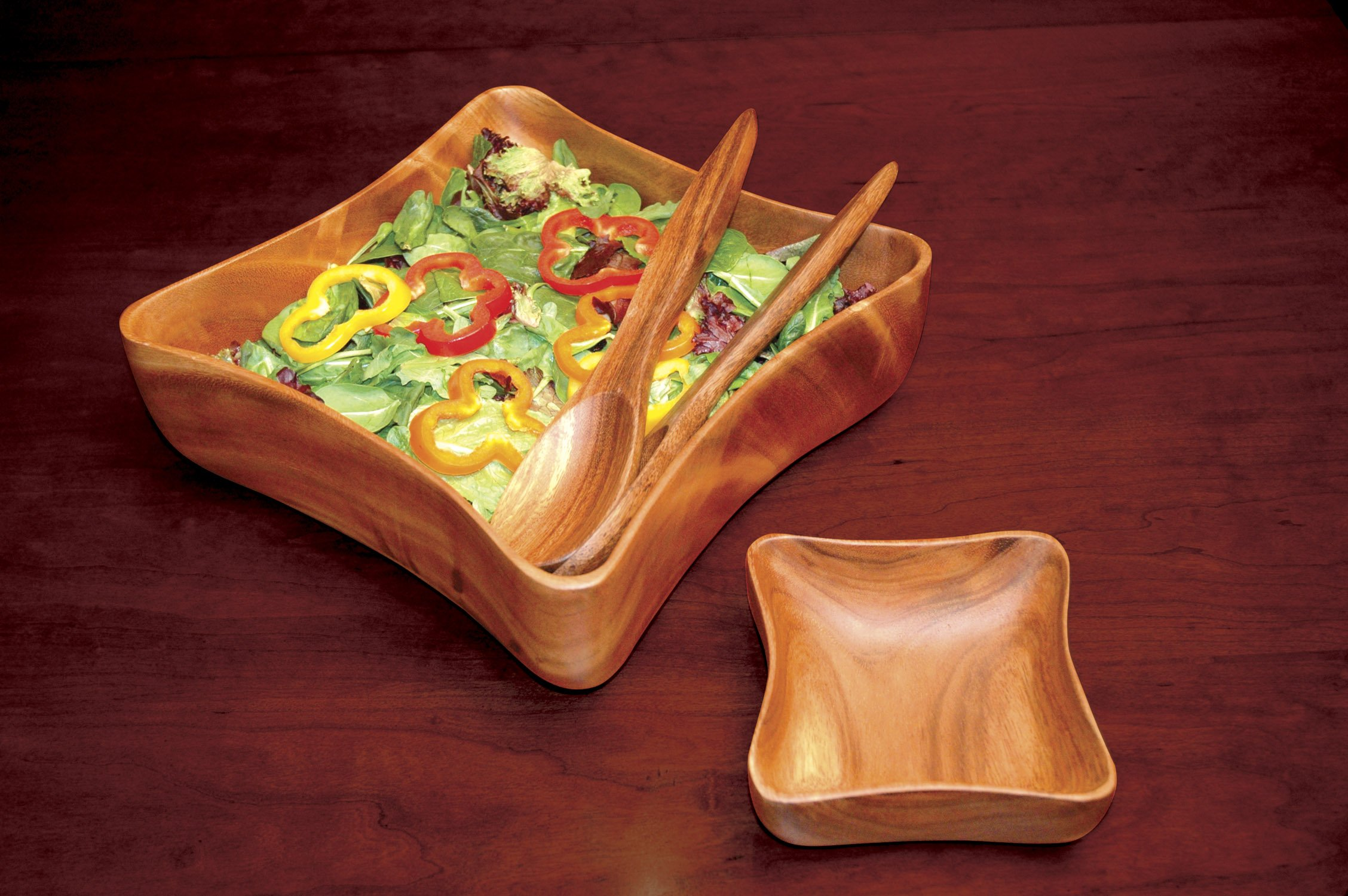 Pacific Merchants Acaciaware 10- by 6- by 2-Inch Acacia Wood Rectangle Serving/Salad Bowl by Pacific Merchants Trading (Image #3)