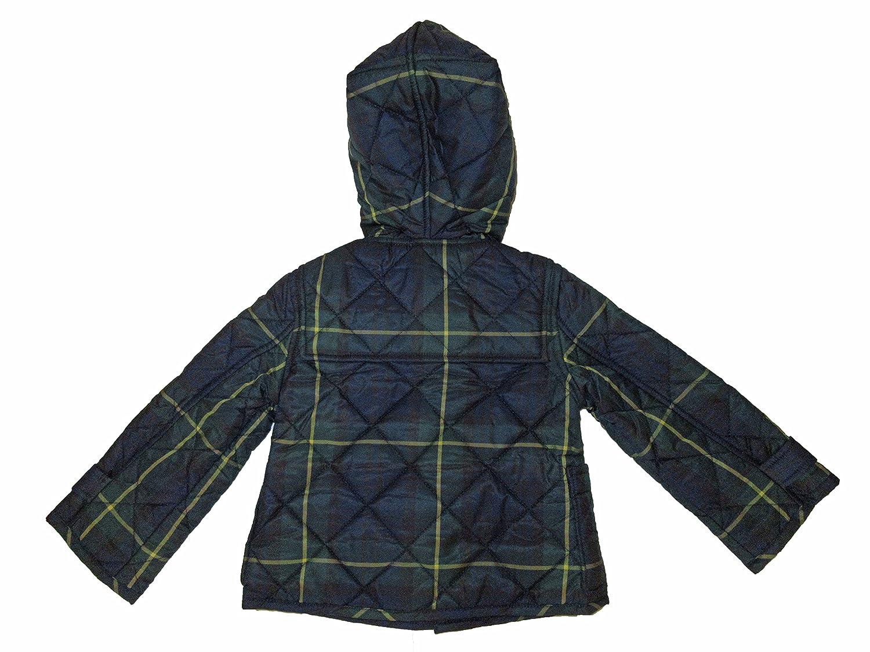 ed8ad4004 Amazon.com: RALPH LAUREN Polo Baby Boys Blackwatch Toggle Closure Hooded Jacket  Blue: Clothing