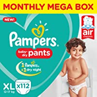 Pampers New Diapers Pants, X-Large (112 Count)