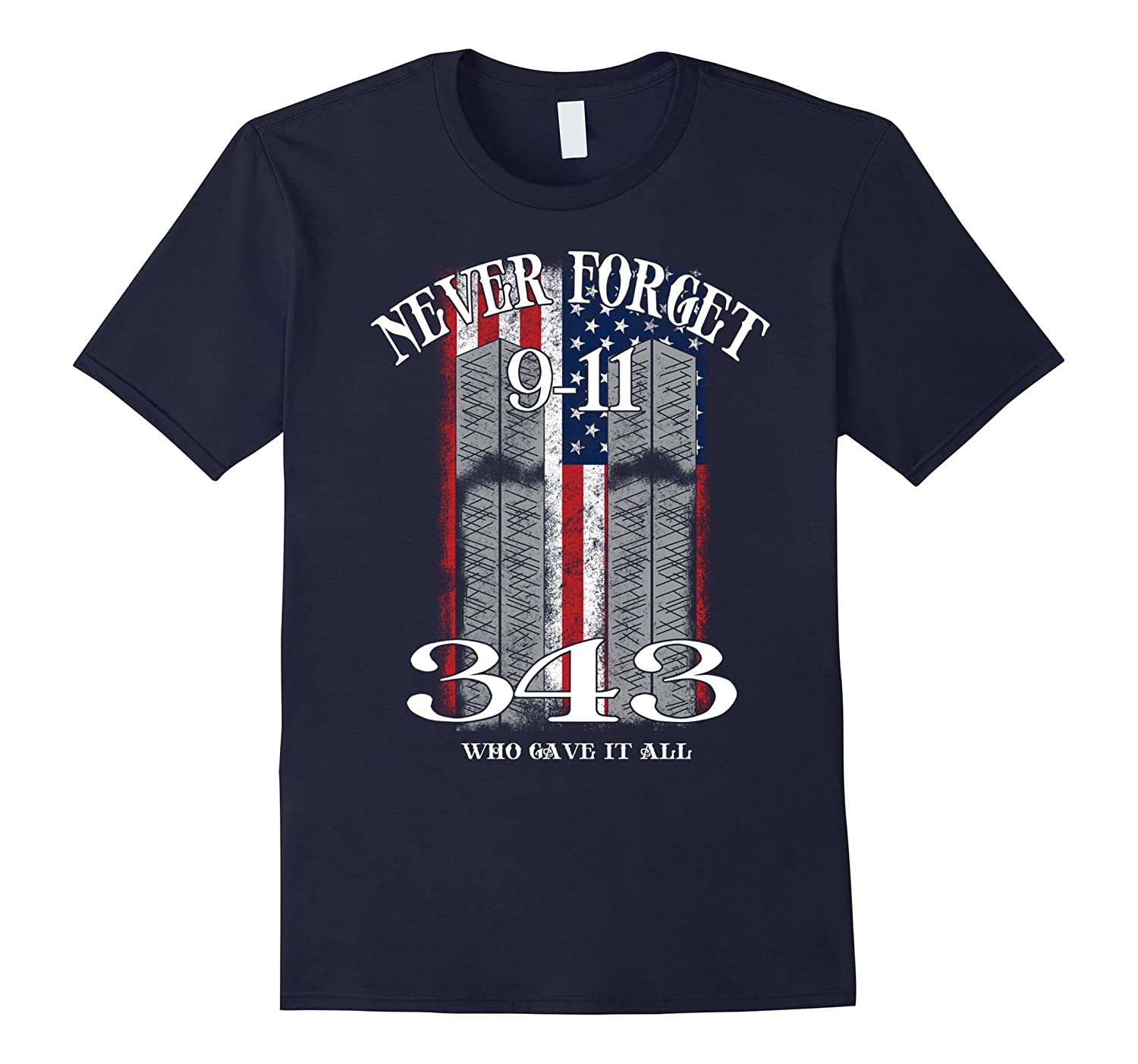 911 - Never forget 9-11 T Shirt-BN