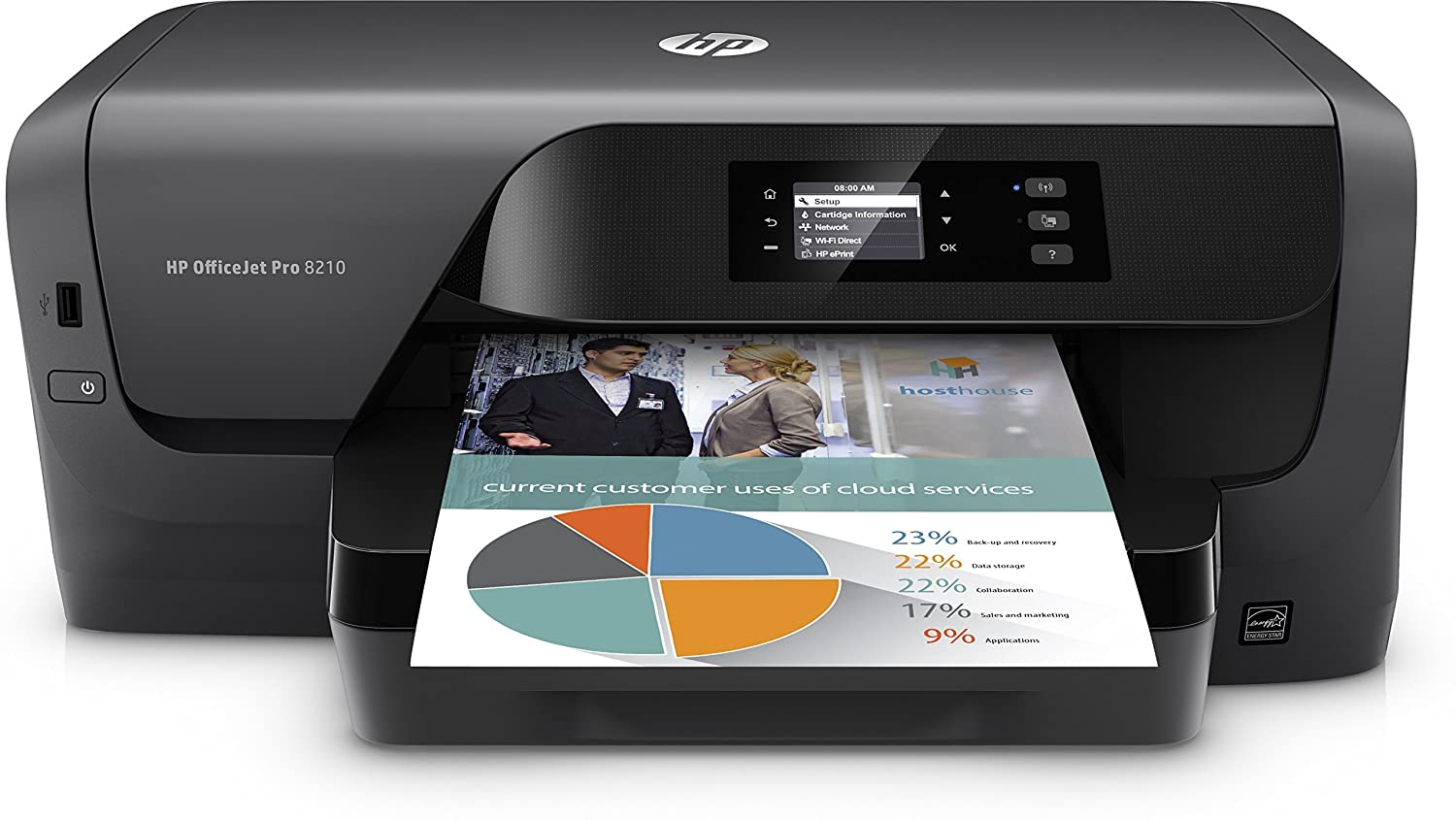 HP Impresora OFFICEJET Pro 8210 WiFi/Duplex ...