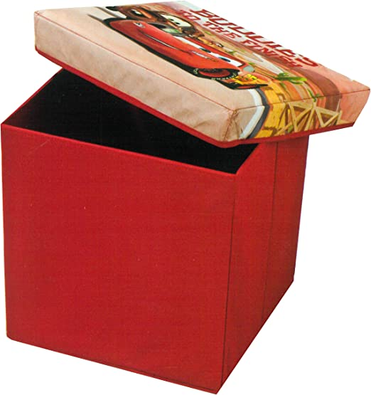 Brandsseller Kinder Sitzkiste Aufbewahrung Box Mit Deckel Motiv Von Cars 30x30x30 Cm Rot Amazon De Kuche Haushalt