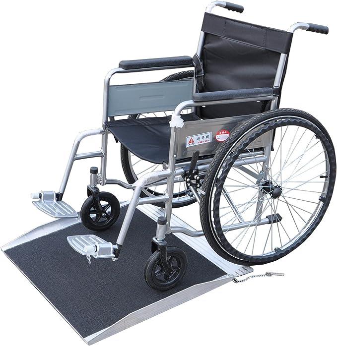 Rampa Rampa Rampa de aluminio para sillas de ruedas andadores 61 cm: Amazon.es: Bricolaje y herramientas