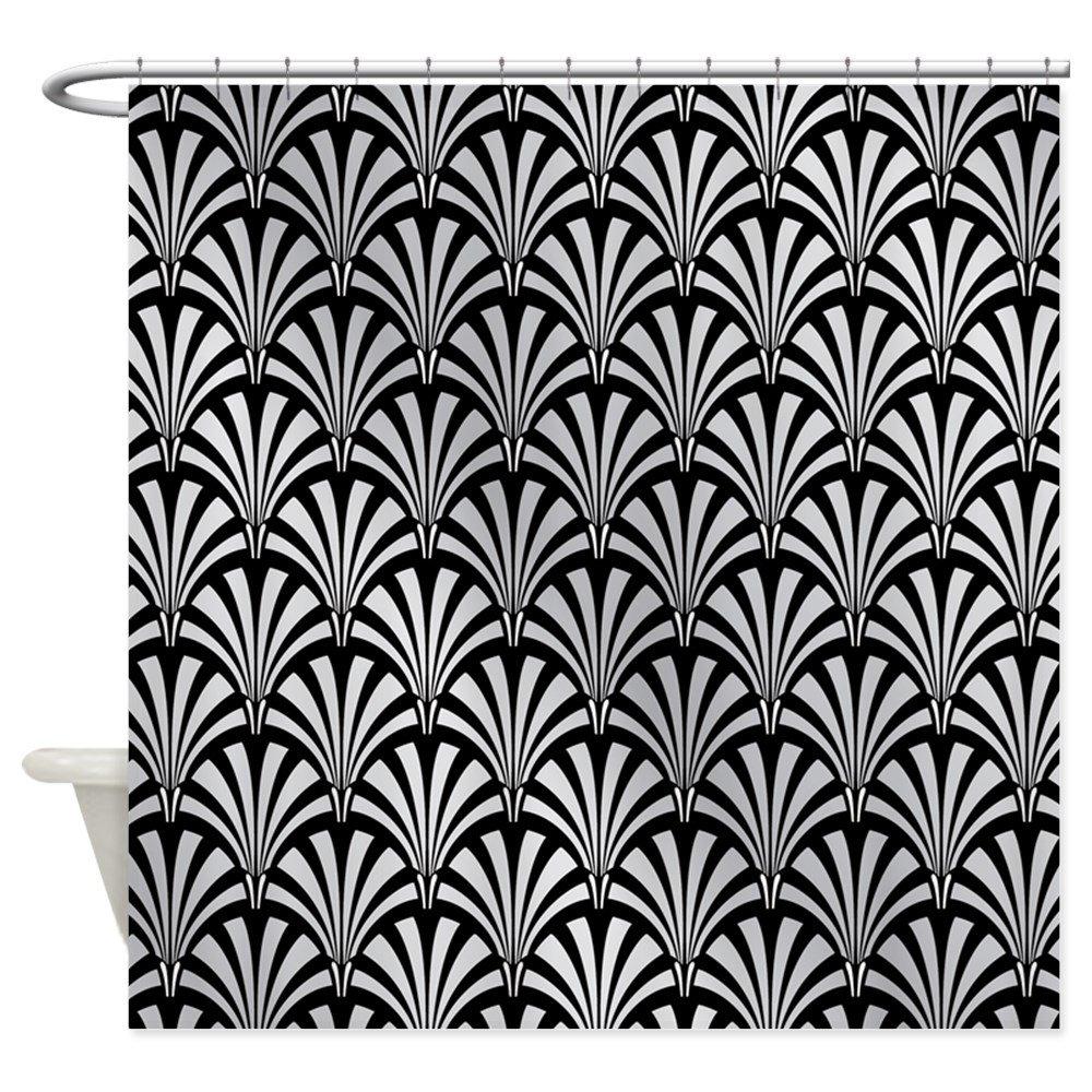 Amazon CafePress Elegant Black And Silver Art Deco Decorative Fabric Shower Curtain 69x70 Home Kitchen