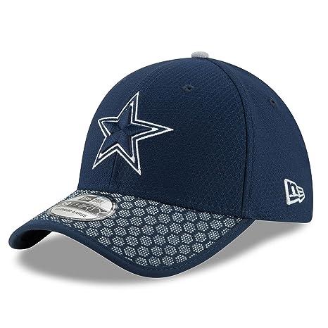 Amazon.com   Dallas Cowboys Navy Sideline New Era 39THIRTY Hat   Cap ... 4de389ac3