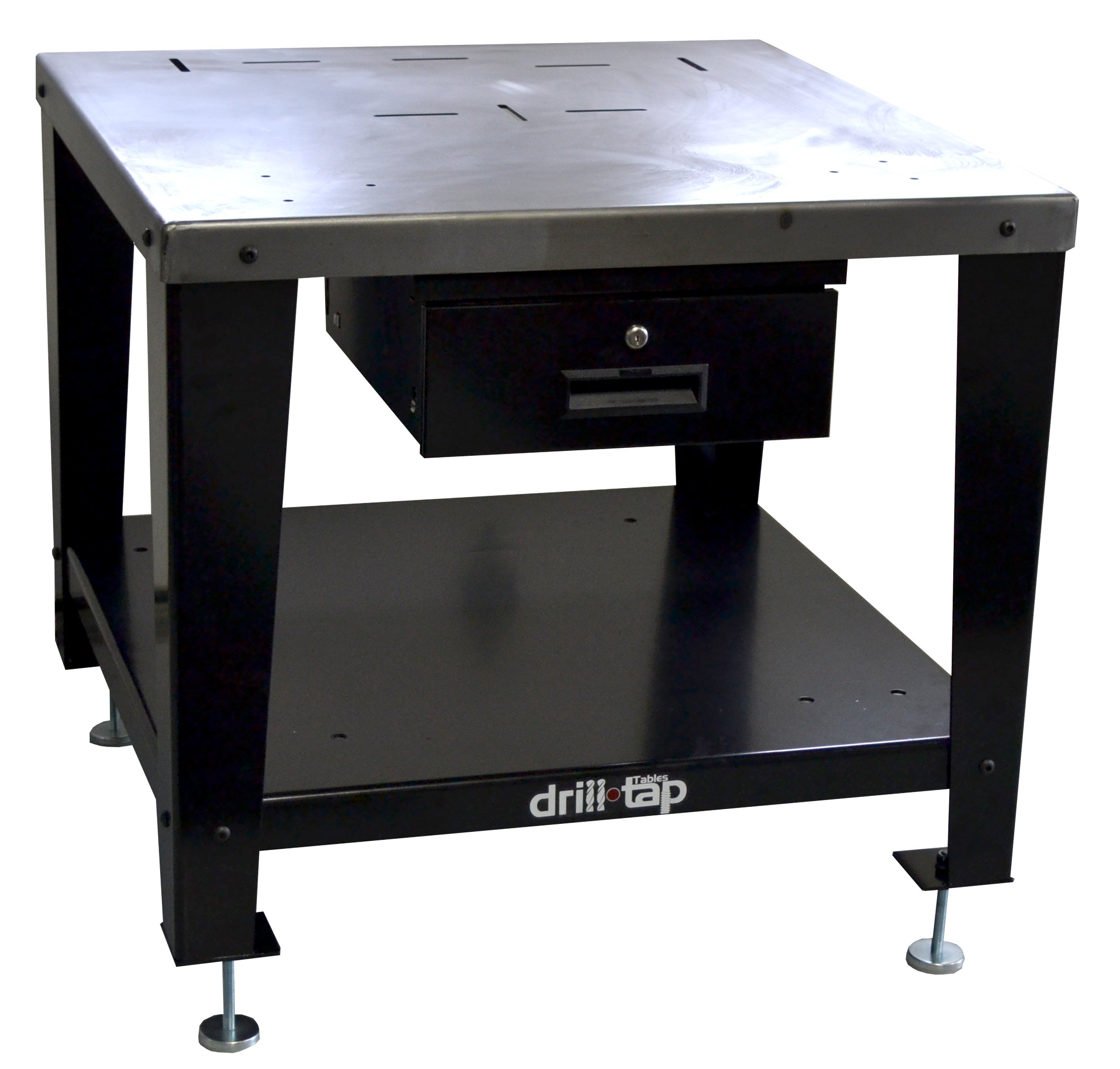 u-Tap U1110A Drill Tap Table with Adjustable Feet and Drawer, Heavy Duty Steel, Medium by u-Tap