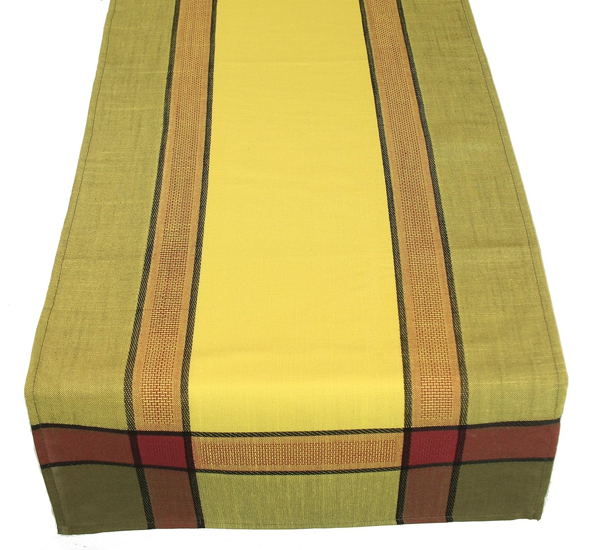 Xia Home Fashions Riviera Collection Contemporary Table Runner, 15-Inch by 36-Inch, Celery