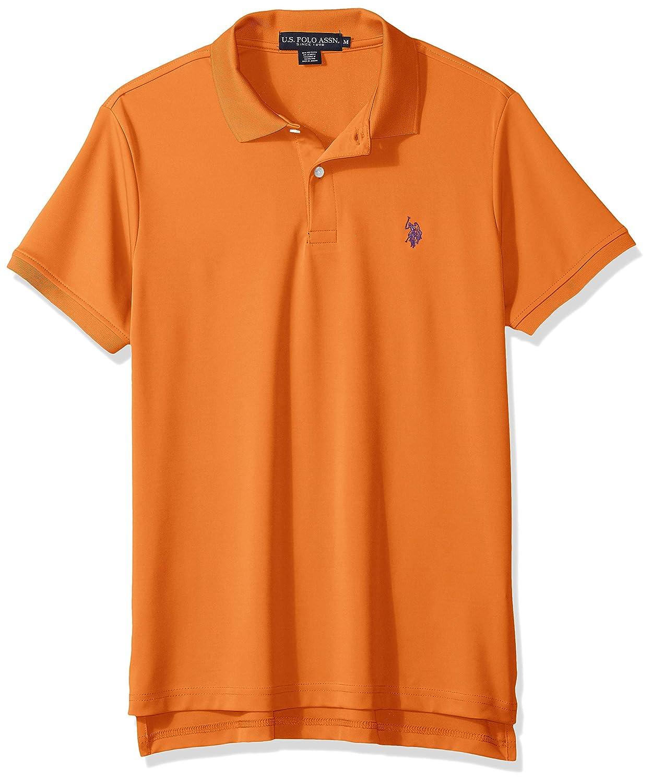 U.S Mens Solid Stretch Performance Polo Shirt Polo Assn