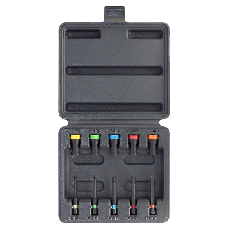 SET 10 MAGNET DRIVER, guarda tus herramientas en esta caja de plá stico resistente que contiene en su interior 5 Magnet Driver y 5 puntas Micaton