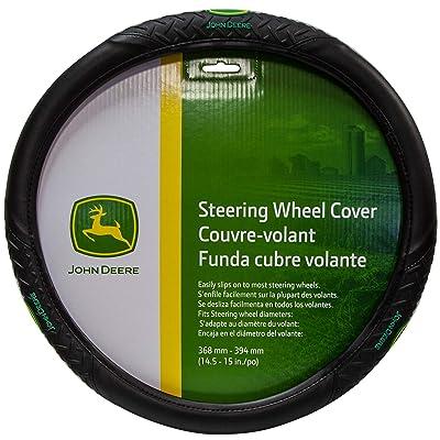 Plasticolor 006328 Diamond Plate Grip Style John Deere Steering Wheel Cover,Multi-colored: Automotive