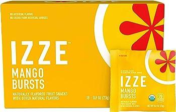 18-Pack Izze Mango Bursts Organic Fruit Snacks