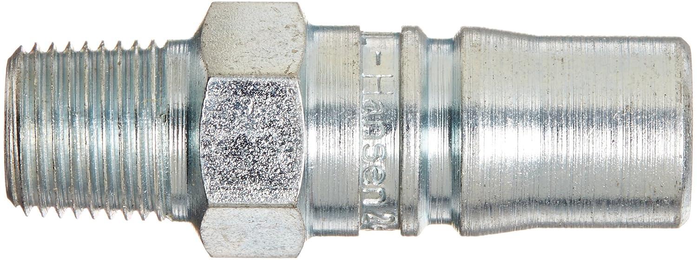 1//8 Port Size Plug 1//4 Body 1//8-27 NPTF Male 1//8 Port Size 1//4 Body 1//8-27 NPTF Male Eaton Hansen 2L10 Steel Ring Lock Quick Connect Pneumatic Fitting