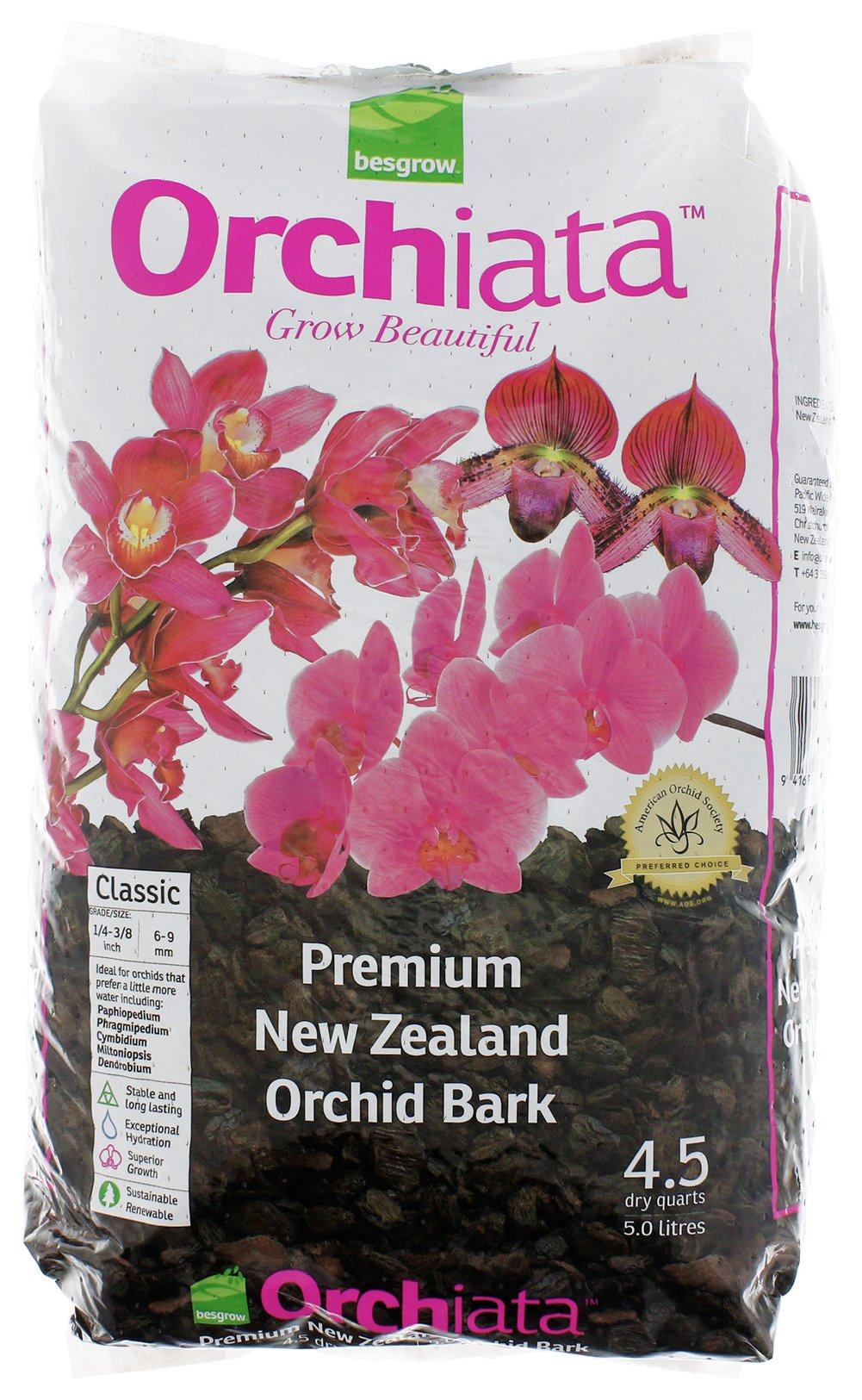 Besgrow Orchiata Orchid Bark - Classic 1/4''-3/8'' (6-9mm)