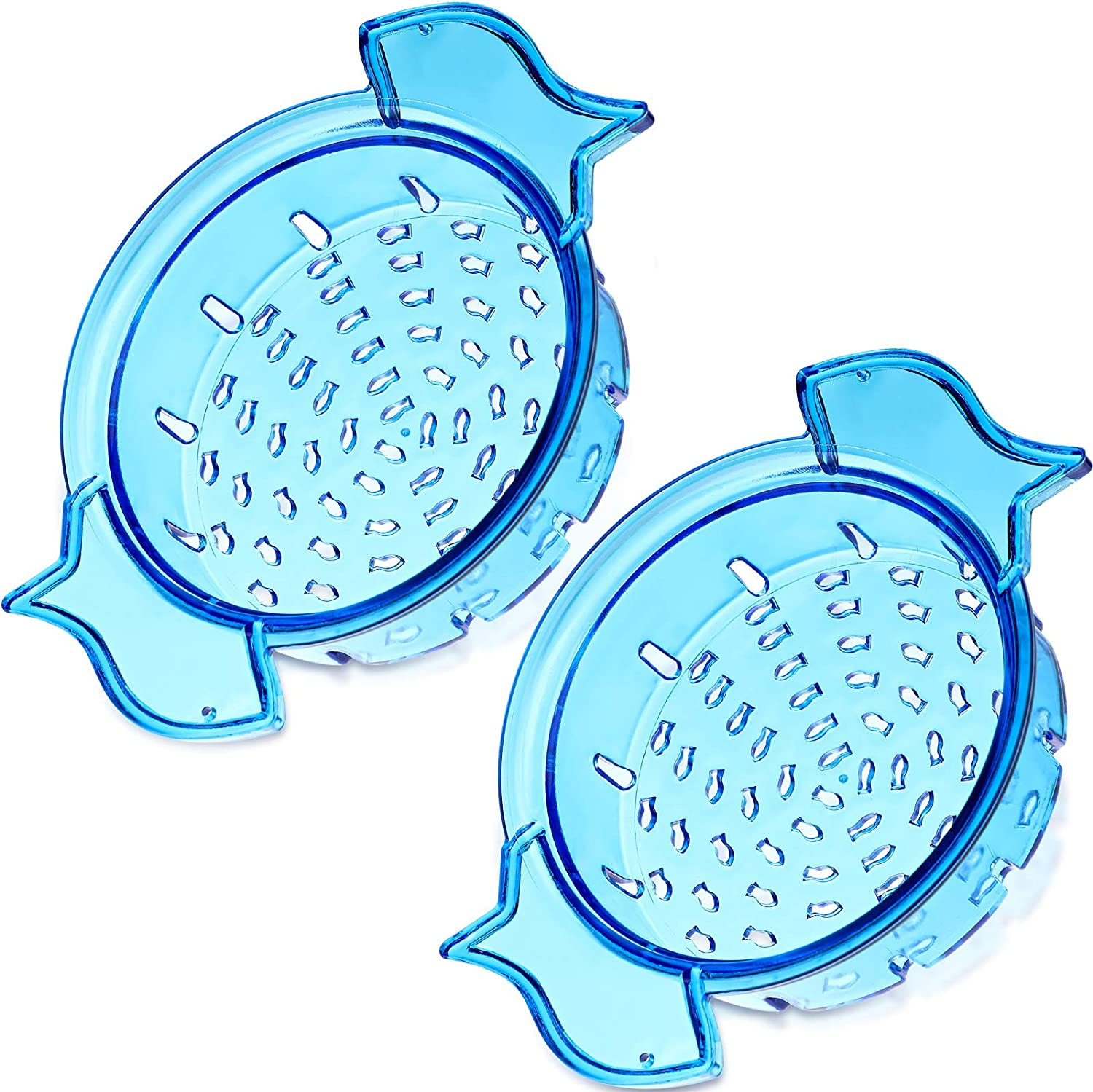 Can Colander, No-Mess Tuna Can Strainer, Food Can Strainer Filter for Beans, Vegetables, Fruit, Tuna, Blue (2)