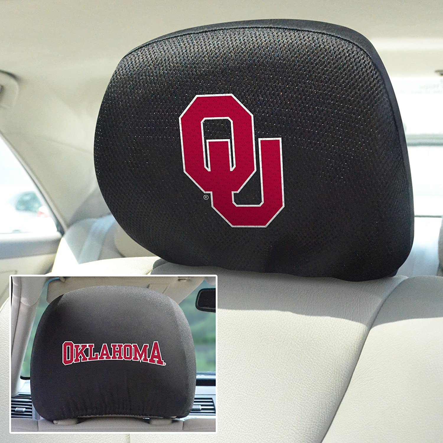 Oklahoma Sooners Ncaa Polyester Embroidered Seat Cover