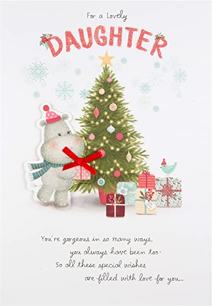 Tarjeta hija-Navidad