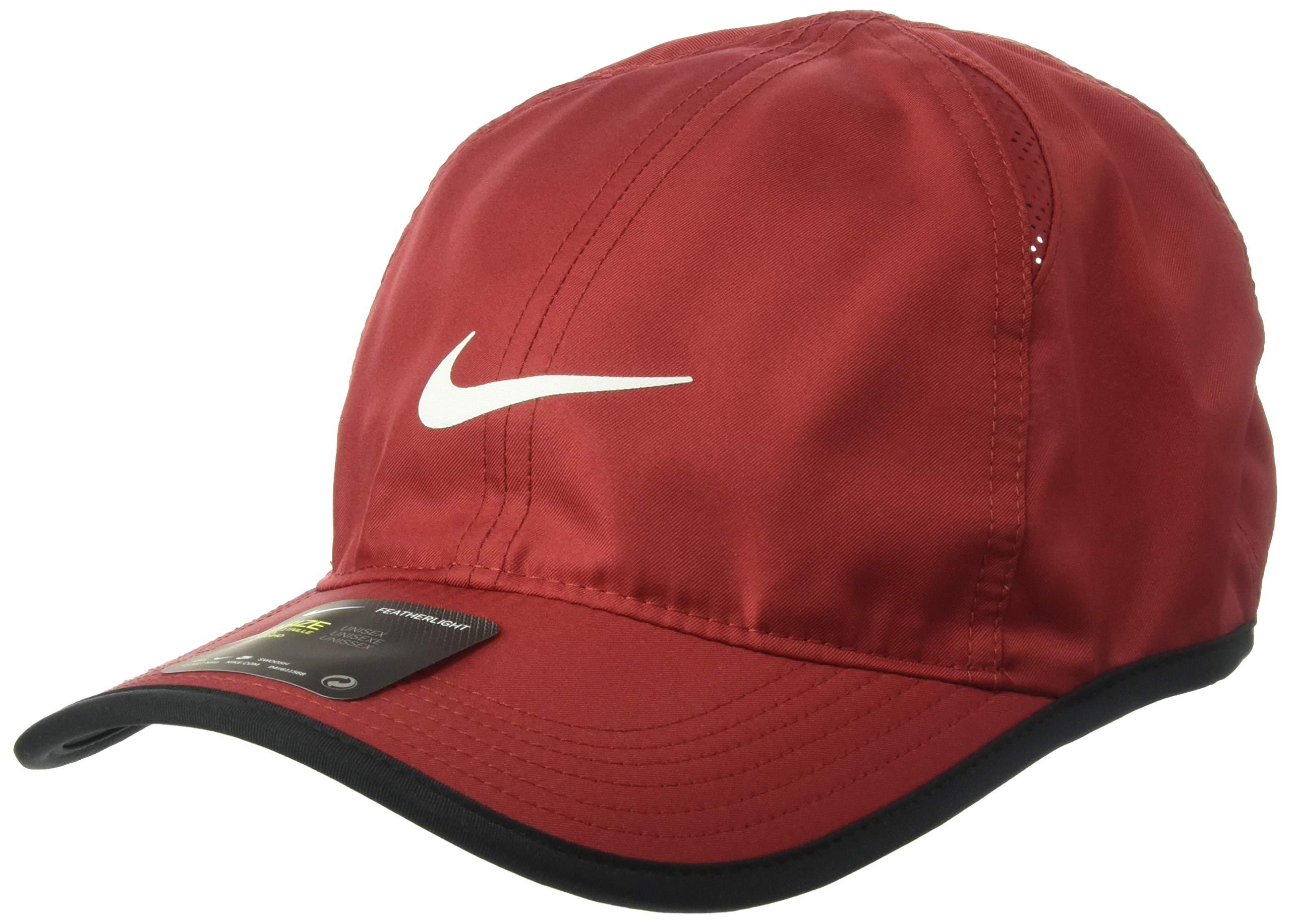 Nike AeroBill Featherlight Cap, Team Crimson/Black/White, Misc by Nike