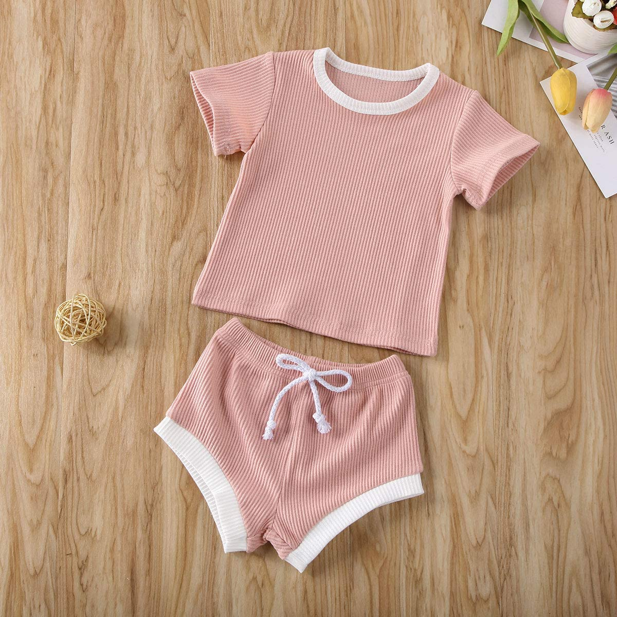 Organic Cotton Clothing Set for Infant Baby Boys Girls Top with Pants Set 2 Piece Outfit Baby Unisex Pajamas