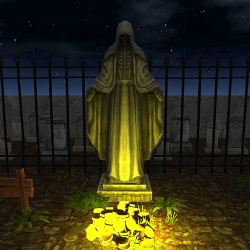 Horror graveyard labyrinth