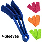 Elecool Window Blind Brush Dust Cleaner With 4 Sleeves For Air Conditioner Window Shades Blinds Jalousie