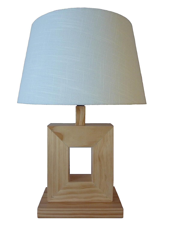Lámpara - madera natural - 57 x 25.5 x 13.5 cm - Abat Día ...