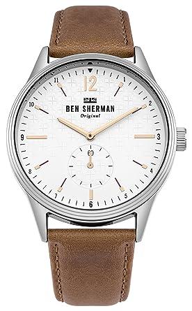 6628fa2a111 Ben Sherman Homme Analogique Classique Quartz Montre avec Bracelet en Cuir  WB015T