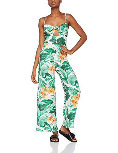 FIND Tropical Print Tie Front, Tuta Intera Donna